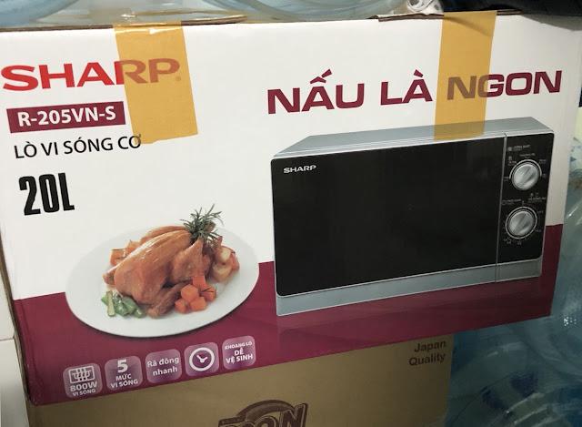 Review, đánh giá lò vi sóng Sharp R-205VN(S)