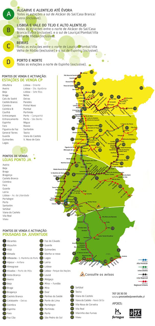 mapa das estações de comboio em portugal El Aventureiro mapa das estações de comboio em portugal