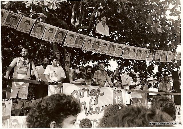Xapuri, Acre - comício com Lula em 1990