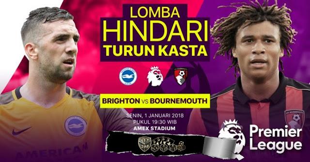Prediksi Bola : Brighton Hove Albion Vs AFC Bournemouth , Senin 01 January 2018 Pukul 19.30 WIB