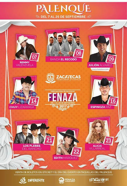 boletos palenque fenaza 2017