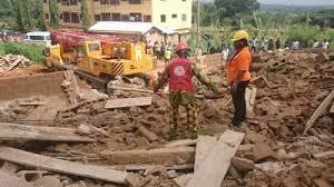 Collapsed building in Nigeria