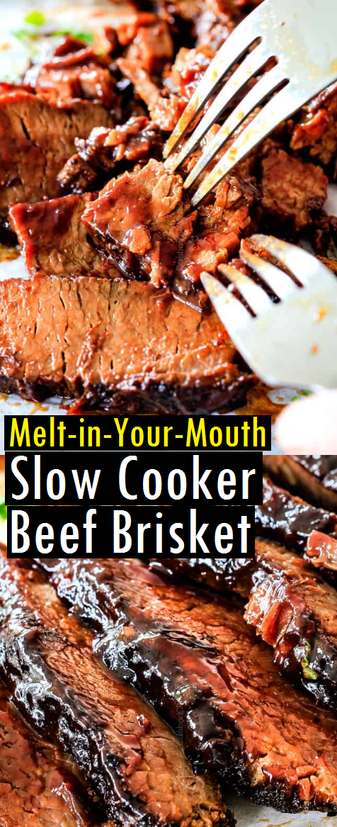 Melt-in-Your-Mouth Slow Cooker Beef Brisket