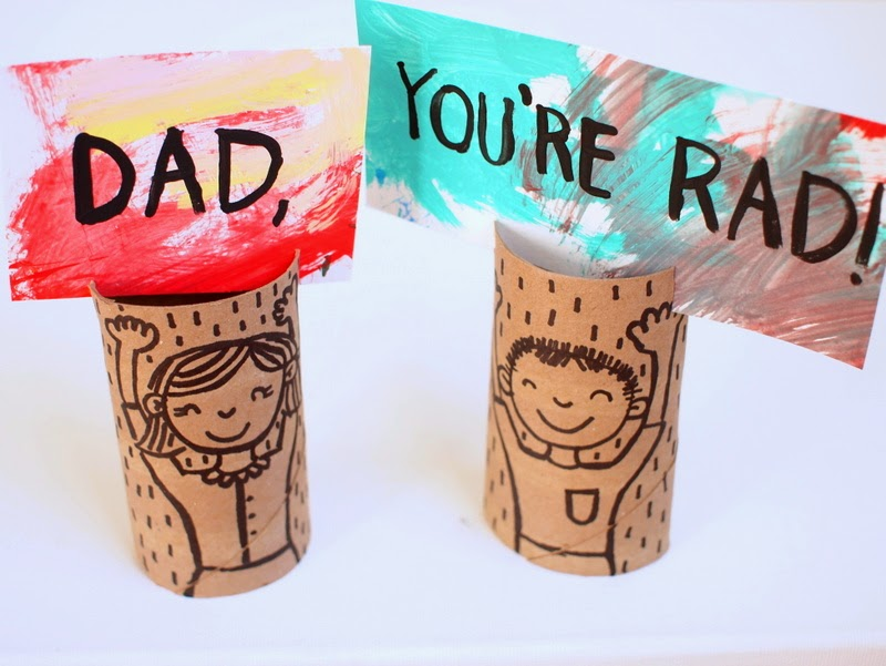 toilet paper roll gift cards for Dad