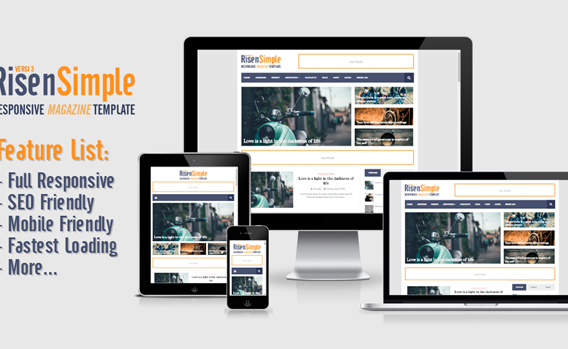 [UPDATED] RisenSimple - Responsive Magazine Blogger Template Premium