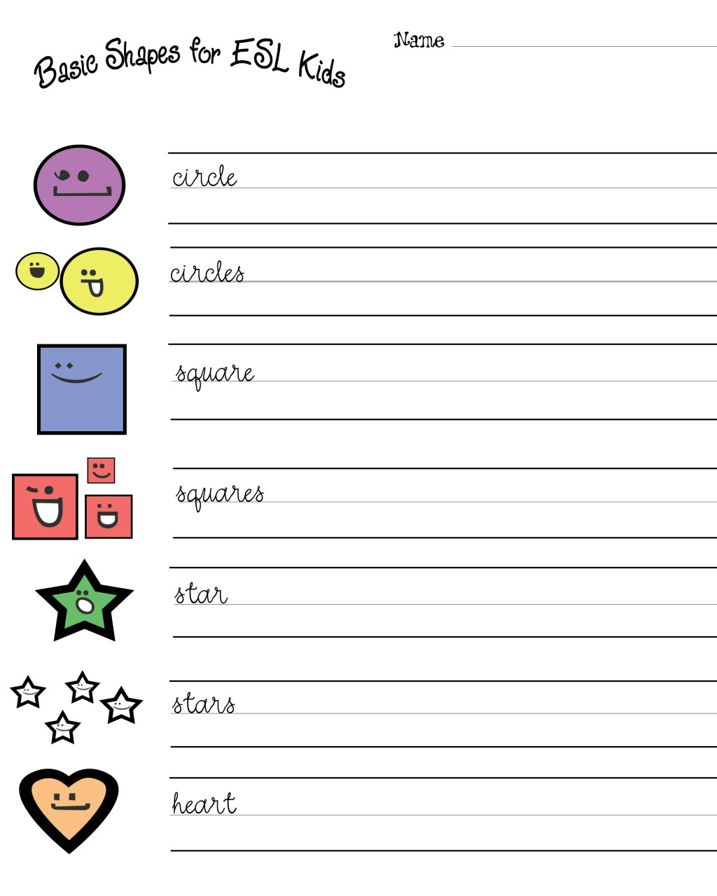 English Bud S Esl Worksheet Shapes