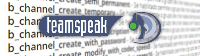 TeamSpeak 3 Permissões mais importantes