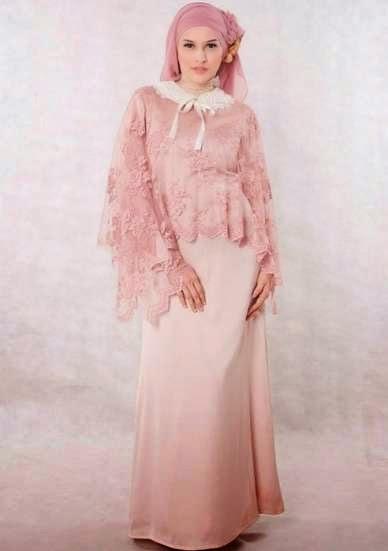 Foto Desain Baju Muslim Brokat Untuk Ke Pesta