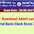 Download Nainital Bank Clerk Exam Admit card 2017