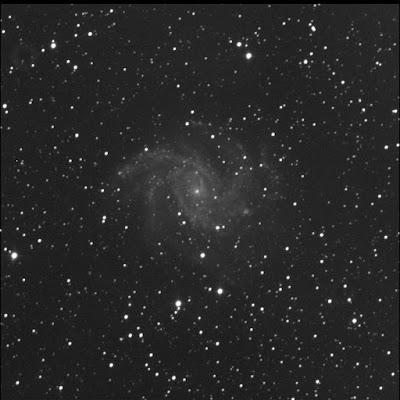 supernova SN2017eaw in luminance