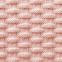 The Basketweave stitch is simple to memorize and quick to work. Pattern is not reversible.