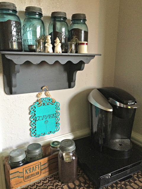 diy coffee station sign