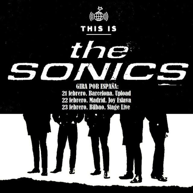 THE SONICS - Gira española Febrero 2018