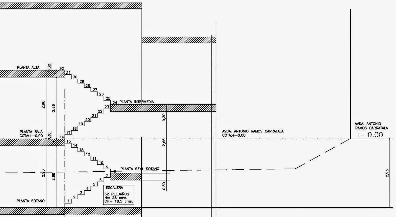 Rc i e s gran v a alicante trabajo 8 calculo escalera for Escaleras en planta