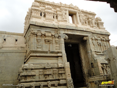 Main Entrance to inner enclosure and to the Veerabhadra Swamy Temple at Lepakshi, in Andhra Pradesh, India