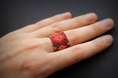 купить необычные женские кольца украшения из японского бисера купить