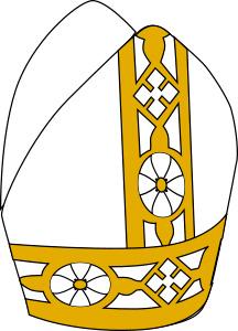 Imagen de una corona de color blanco con amarillo