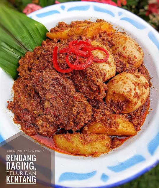 resep rendang , rendang telur , rendang ayam , rendang kentang, resep rendang indonesia