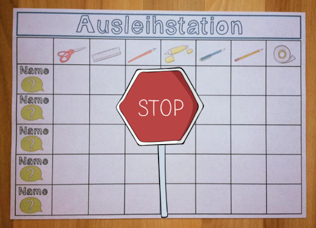 Ausleihstation STOP!