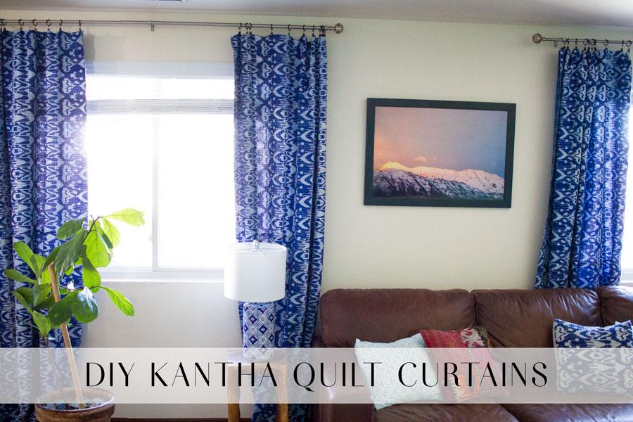 DIY Kantha Quilt Curtains
