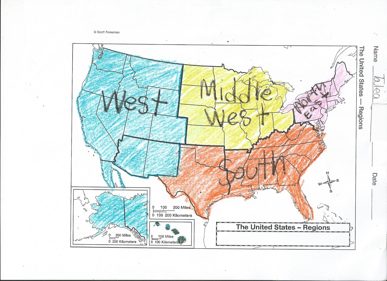 The Amazing Kids Of Room 200 The Regions Of The United States