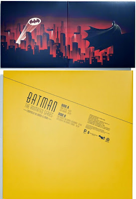 "Batman: The Animated Series Die-Cute 12"" Single Cover Artwork by Danny Elfman & Phantom City Creative"