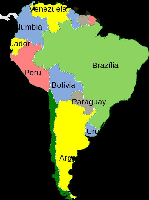 """latin amerika térkép El Mexicano: """"Latin Amerika"""" vs. """"Dél Amerika"""" latin amerika térkép"""