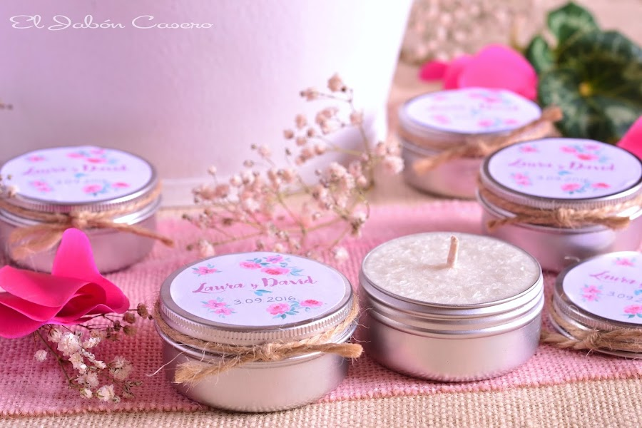 Detalles para bodas velas aromaticas