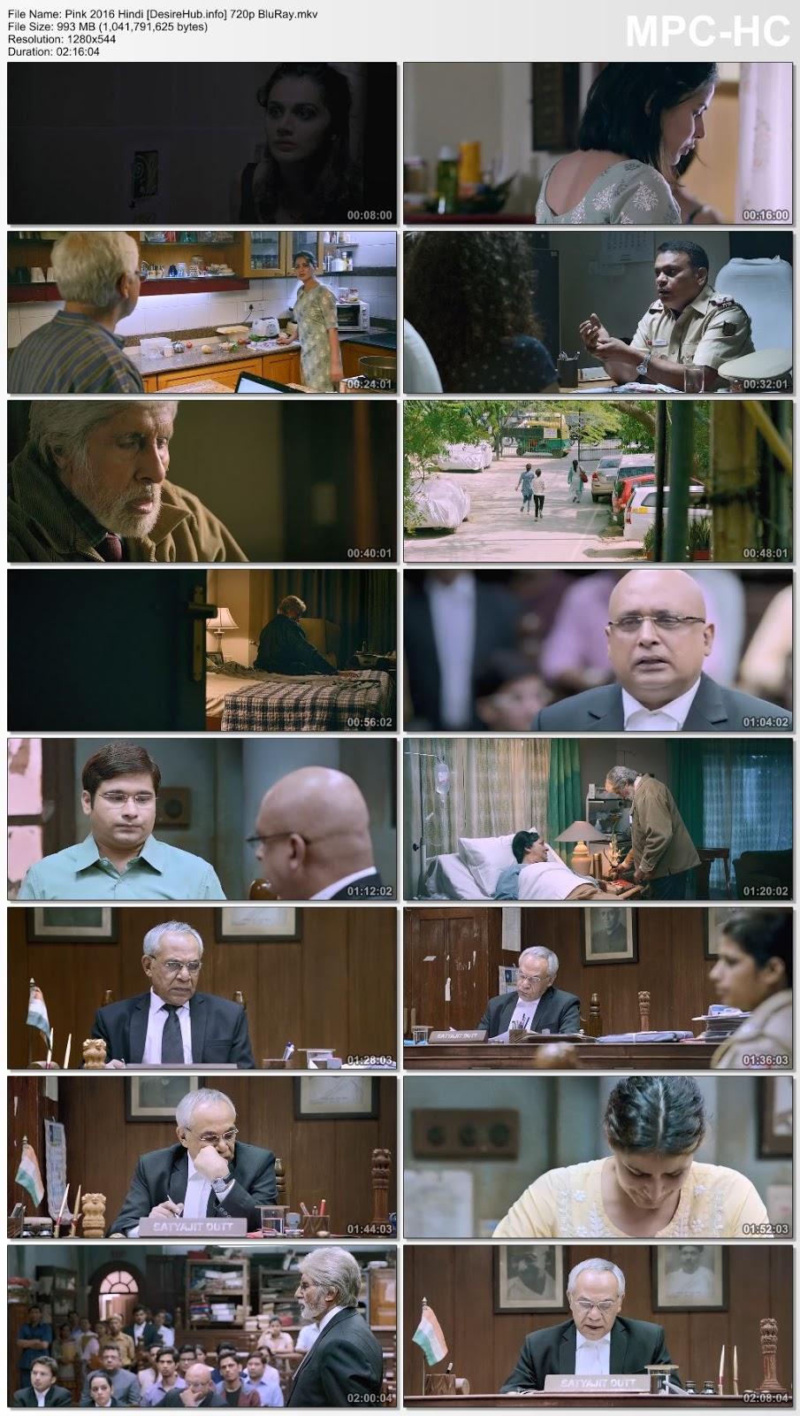 Pink 2016 Hindi 480p BluRay 350MB Desirehub