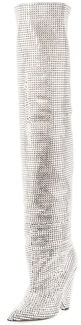 Saint Laurent Embellished Over-The-Knee Boot