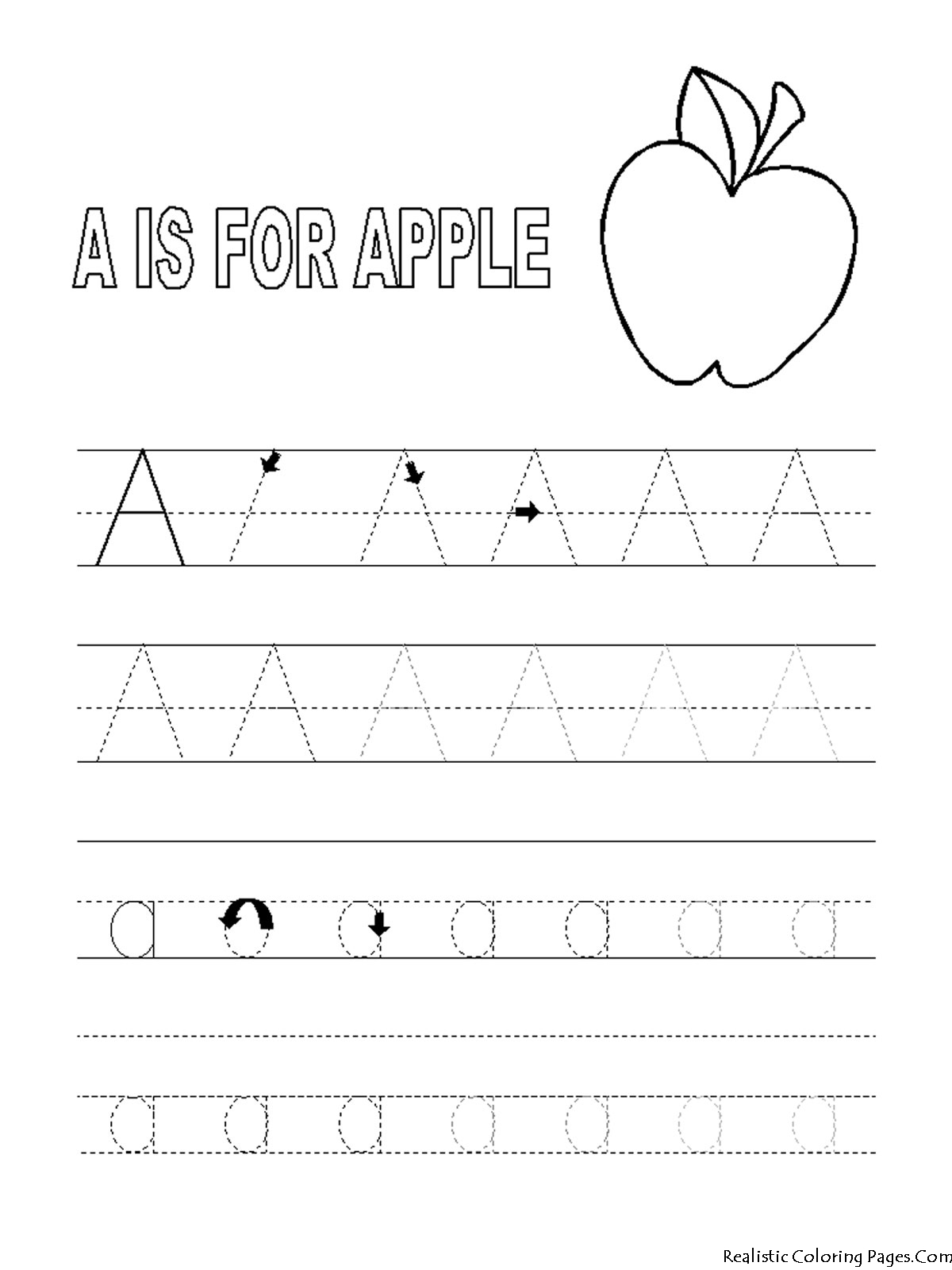 A To Z Coloring Pages Pdf : A letters alphabet coloring pages realistic