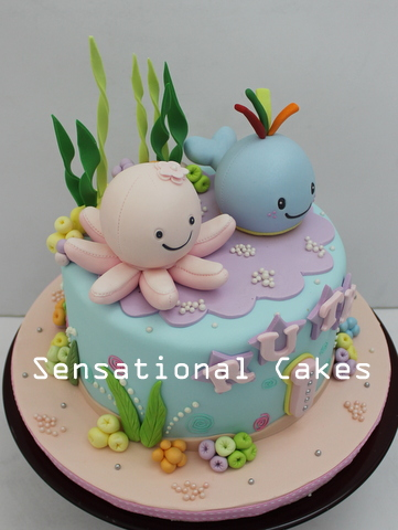 The Sensational Cakes Underwater Theme Cartoon Cake