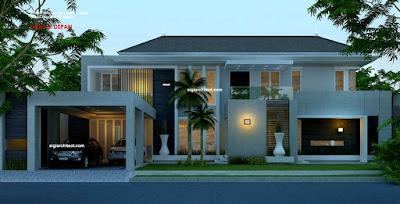 Desain Rumah Mewah Minimalis Modern