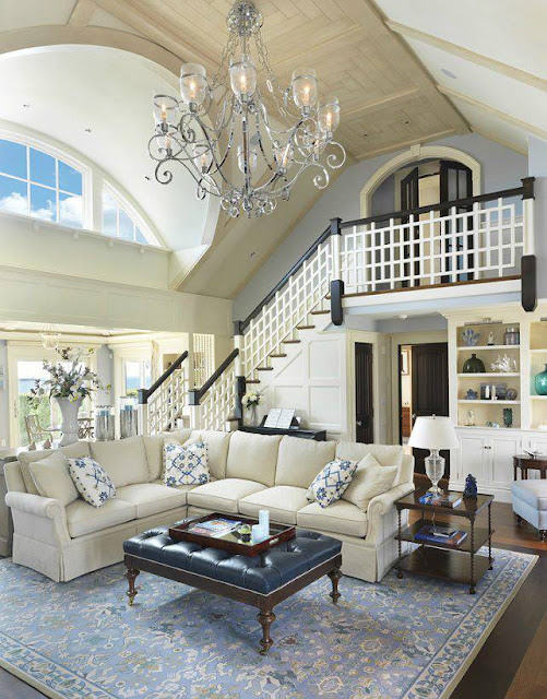 Construindo minha casa clean ambientes com p direito - How to make living room beautiful ...