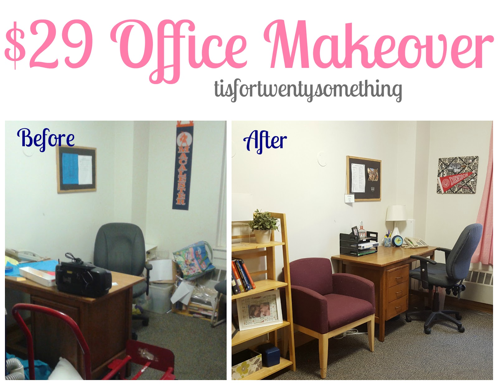DIY Office Makeover t is for twentysomething