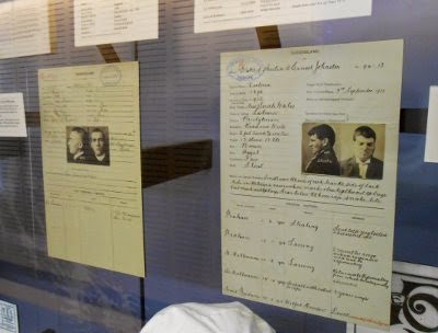 Prison records of executed prisoners Arthur Ross and Ernest Austin