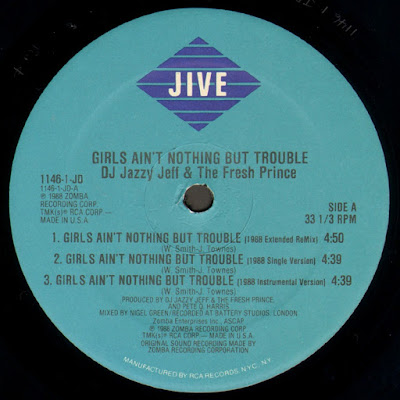 DJ Jazzy Jeff & The Fresh Prince – Girls Ain't Nothing But Trouble (VLS) (1988) (FLAC + 320 kbps)