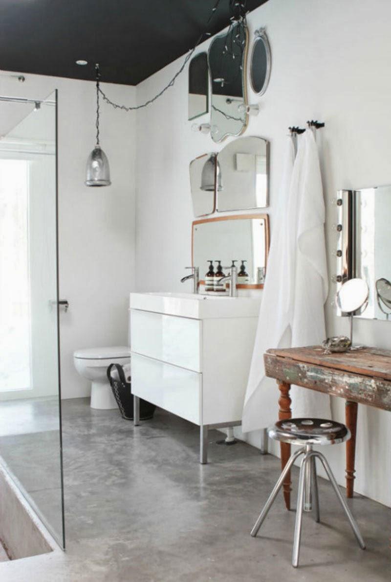 Espejos sin marco 39 vintage 39 o actuales para decorar tus for Banos actuales decoracion