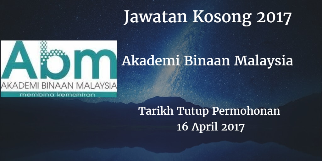Jawatan Kosong ABM 16 April 2017