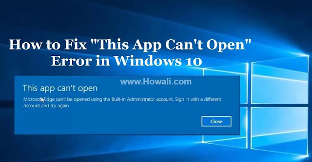 This App Can\u0027t Open Error on Windows 10 - Solved - Howali.com