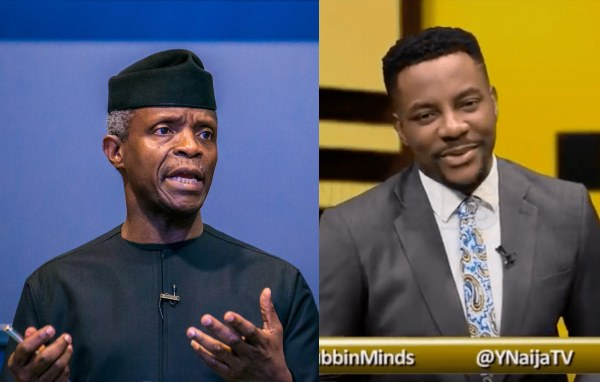 VP, Osinbajo Scheduled to be a guest on #Rubbin Minds today Missed the Interview and Nigerians are reacting...