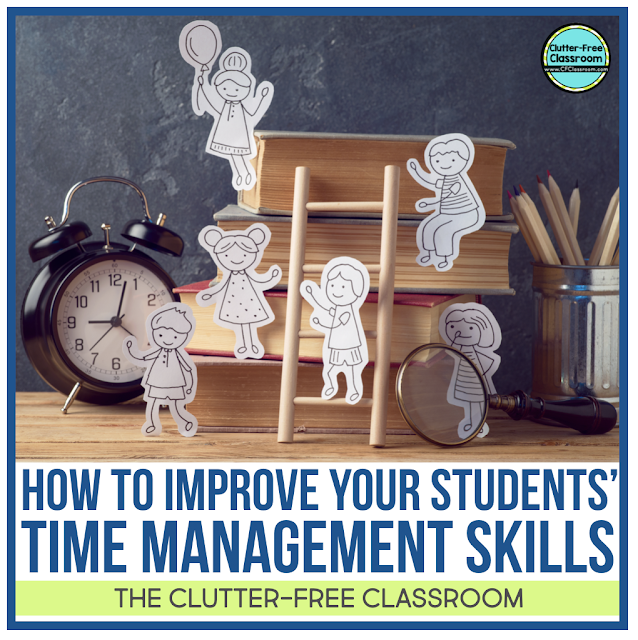 Learn how to help students and your own children learn simple time management skills and strategies from these tips and ideas. from The Clutter Free Classroom. Beyond transition songs there are  printables, activities, routines, procedures, and tips to promote positive behavior among each student.