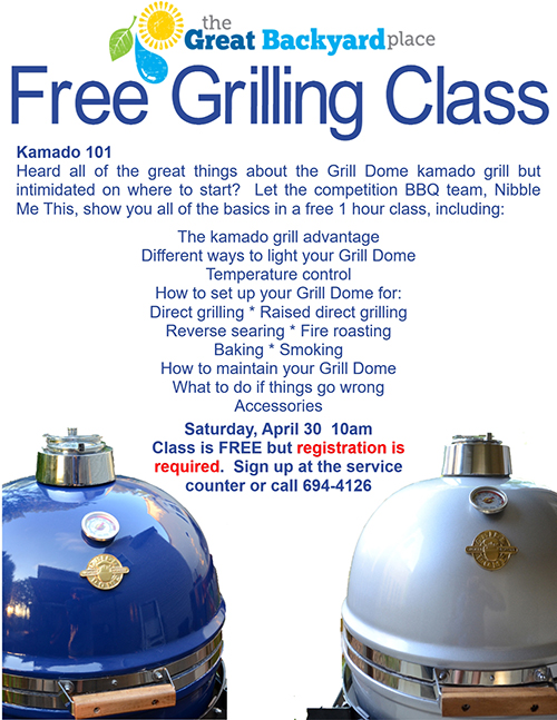 Big Green Egg class, big green egg training, grill dome training, grill dome class, kamado jr class