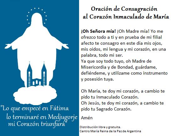 Centro María Reina De La Paz Argentina Medjugorje Renovemos Nuestra Consagración A María