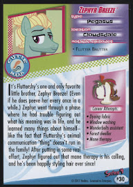My Little Pony Zephyr Breeze Series 4 Trading Card