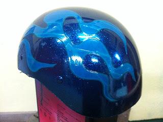 2117025732 - カスタムペイント工程  ダックテールヘルメット 仏フレイムス