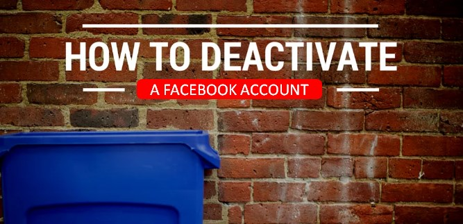how to deactivate facebook account temporarily step by step