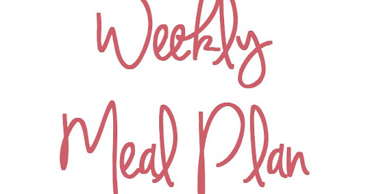 Meal Plan 23rd - 29th January 2017 + The Eden Project