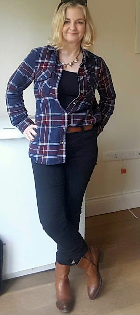 Plaid blouse outfit