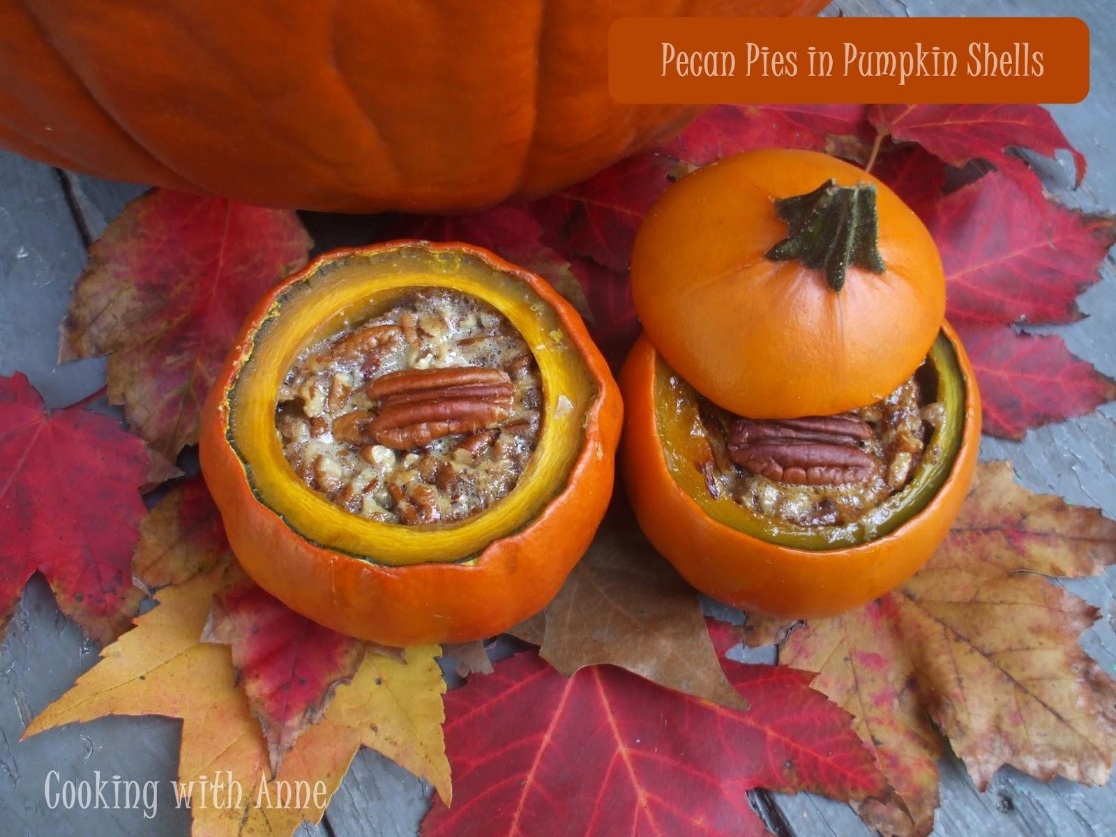 Pecan Pie in Pumpkin Shells